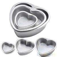 aluminium baking tins - Aluminium Heart Shaped Fondant Cake Biscuit Baking Mold Wedding Pan Tins Muffin MVL