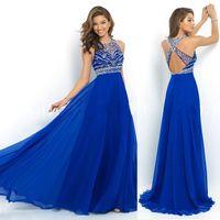 silk dress shirt - 2015 new prom dresses A formal party dress CHIC A LINE PRINCESS SWEETHEART FLOOR LENGTH CHIFFON BLUE PROM DRESS prom dresses WITH BEADING