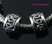 Wholesale OMH Free ship tibetan silver fit charm bracelet beads Jewelry metal beads X9mm ZL124