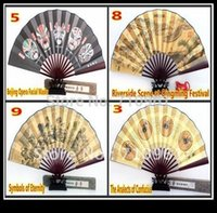 bamboo culture - hot sale full of chinese culture Bamboo piece folding fan Silk Folding Gift Craft Fan