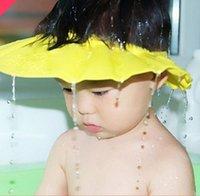 Wholesale adjustable infant shampoo cap bath cap Baby shower shampoo waterproof cap hat Bathing Shower Cap Hat Wash Hair Shield hat cap