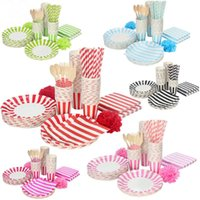 Wholesale Hot Selling Design Paper Party Set Include Paper Plate And Paper Napkins For Wedding Party Decoration