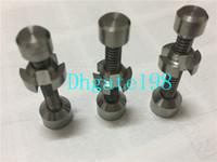Wholesale Titanium Nail mm m metal click n vape for Incense Globe Dab Oil Rig quartz ceramic glass Adjustable Ti Nails titanium nail