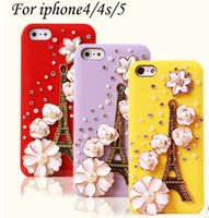 Wholesale Following from ice cream apple five generations the Eiffel Tower shell iphone4s following from diamond