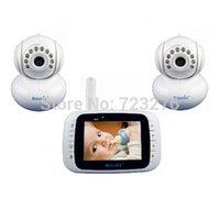 Wholesale 2 camera baby monitor inch LCD Video Digital Baby monitors sleeping Smart ghzWireless lullaby electronic nanny Radio nurse