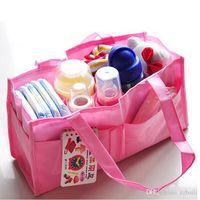 Wholesale 2pcs Mummy Bag Bottle Storage Multifunctional Separate Bag Nappy Maternity diaper bag Handbag Baby Tote Diaper Organizer