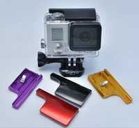Wholesale CNC Aluminum Alloy Back Door Clip Lock Safety Lock Buckle Lock for Gopro Go Pro Housing Waterproof Case