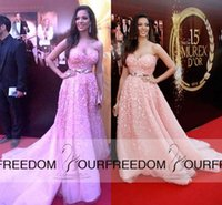 actress lighted - 2016 The Lebanese Actress Nadune Nassib Njeim Celebrity Dresses Sweetheart Neckline A Line With D Flora Evening Prom Dresses With Sashes
