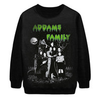 adams family - Punk d creative women sweatshirts The Adams family printed funny sweatshirt tops