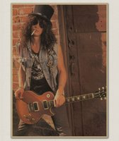 band graphics - popular band paper poster of Guns N Roses wall sticker Vintage Style Retro Paper Poster Good Gifts