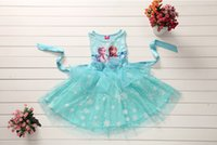 Wholesale Summer Frozen Dresses Fashion Girls Dresses Joining together Vest skirt Dresses With Holiday clothing Baby Children Clothes T T ESY78
