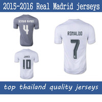 quality white shirts - 15 Real Madrid RONALDO KROOS BENZEMA JAMES jerseys Thail best Quality Soccer jerseys Real Madrid home Jerseys white Football shirt