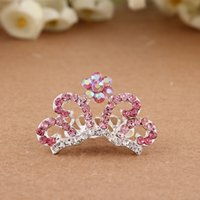 Wholesale Hair Clip The New Children s Hair Accessories Popular Crown Crystal Beautiful Headdress Alloy Diamond Children Colors Into