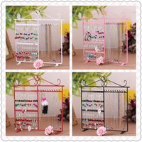 Wholesale DIY New Arrival White Metal Earring Display Jewelry Stand Holder Rack Necklace Bracelet cm