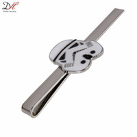 Wholesale New Fashion Necktie Accessories Star Wars Stormtrooper Tie Clip Silver Enamel Metal Tie Clips For Men Collection Jewelry