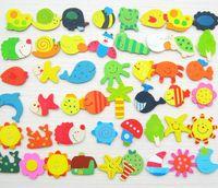 Wholesale Children s Wooden Toys Educational Toys Early Wood Cartoon Cute Fridge Magnet education Fridge Magnets Toys Spring Hot Sale