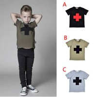 t-shirt printing - 5pcs kikikids NUNUNU cross printed boys T shirts summer style kids clothes girls short sleeve t shirts children clothing HX