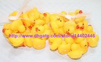 bath - 600pcs New Baby Bath Water Toy toys Sounds Yellow Rubber Ducks Kids Bathe Children Swiming Beach Duck Ducks Gifts