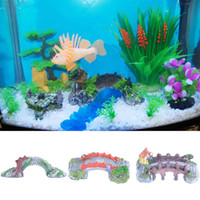 Wholesale Aquarium Landscaping Fish Tank Crafts Ornaments Decorations Antique Bridges
