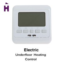 Wholesale 16A Warm Floor Heating Thermostat Underfloor Temperature Controller Thermometer Weekly Programmable LCD Display