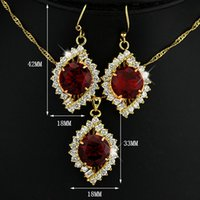 aqua kit - 2015 Limited Outdoor Patio Furniture Wicker Furniture Combined Exports Ms Earrings Jewelry Red Crystal Pendant Kit Combination Js100386