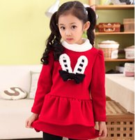 baby bunny suits - Small girls in autumn plus thick velvet two piece baby peppers bunny suit years old