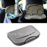 Wholesale Colors Gray Car dining table folding drink holder car pallet back seat water car cup holder