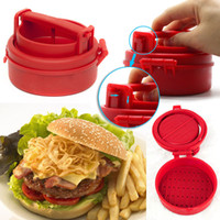 Wholesale 2015 New arrival Hot sale best quality New High Quality Stuffed Burger Press Hamburger Grill BBQ Maker Juicy Kitchen Meat and