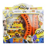 electric train toy - Sample Order Minions Figures Electric Train Track With Slot Cartoon Movie Kids Toys Children Christmas Gift S30284