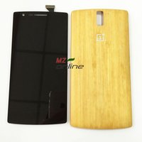 bamboo digitizer - OEM For Oneplus One A0001 LCD Screen Display Digitizer Touch Glass Assembly bamboo back cover