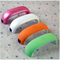 Wholesale 9W MINI LED Nail Lamp V V LED Gel Nail Dryer LED UV light nail lamp Wiht s timer for Nail Art Tool Polish