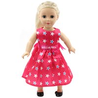 Wholesale Hot New style popular red colorful dress baby doll clothes inch American girl doll clothes and accessories
