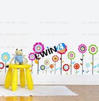 Wholesale Brand New and High Quality Home Art Decor Wall Sticker Decal Colorful Flower children bedroom