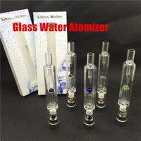 Cheap Pyrex Glass Hookah atomizer vhit water atomizer tank Dry Herb Wax Vaporizer herbal vaporizers pen water filter pipe ecig ecig bongs free DHL