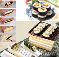Wholesale Promotion New Cooking Tools DIY Sushi Maker Rice Mold Kitchen Sushi Making Tool Set Pack of