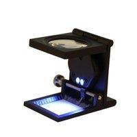 Wholesale Promotion X Zinc Alloy LED Light Folding Magnifying Optical Glass Magnifier Scale