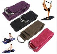 "Cheap 50pcs DHL Free Shipping 180cm 67"" 6FT Yoga Stretching Stretch Strap D-Ring Pilates Belt Figure Waist Leg Fitness Exercise Gym"