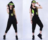 Wholesale New Fashion Women Hip Hop Dance Costume Performance Wear Jazz Sports Jumpsuits