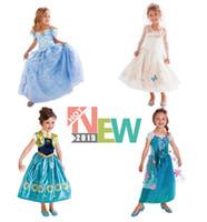 Wholesale 1pc Girls Dress Elsa Anna Dress Cinderella Butterfly Dress Party Dresses Princess Cosplay Cartoon Brand Girls Children Clothes Kids