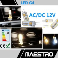 Wholesale G4 AC DC V Light leds SMD W W Silica gel chips bulbs spotlighting Degree NON POLAR chandelier Crystal lamp accessories