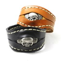 Wholesale Cool Design Motorcycles Hot Genuine Leather Newest Biker Bracelet