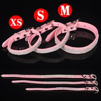collar bars - PU Leather Personalized Plain Skin Pet Collar For Dog or Cats With MM Slide Bar For mm slide letters