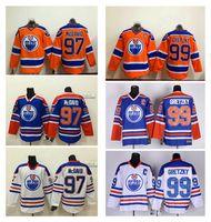 Wholesale Oilers Connor Mcdavid Orange Blue White Hockey Jerseys Discount Cheap Wayne Gretzky Hockey Wear Brand Men s Hockey Uniforms for Sale