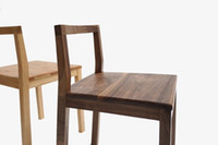 Wholesale Simple modern style furniture solid wood chair black walnut dining chair type