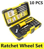 appliance wheels - 39 in gator grip ratchet wheel screwdriver set chave de fenda household appliances repair DIY folding ratchet wrench tool