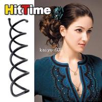 spiral hair pin - 10Pcs Beauty Magic Spiral Hair Pin Barrette Clip Stick