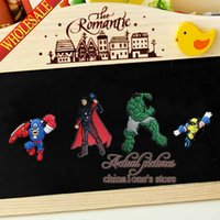 Wholesale set Avengers Super Heroes Refrigerator Blackboard Magnetic Sticker Fridge Magnet School Office Party Supplies Stationery