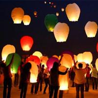 10pcs / lot traditionnel chinois souhaitant Shape Lantern ovale Sky Fire Balloon Halloween festival du Nouvel An Fournitures L901