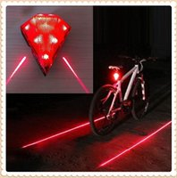 Wholesale Rechargeable Diamond Ultra Dazzling Bicycle Laser Tail Light with LED Laser Cycling Bike Waterproof Rear Lamp