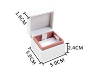 Cheap Compatible with Pandora Jewelry Velvet European Style Charm Beads Boxes Jewelry Gift Display Cases Boxes Ring earrings box 5*5*4 cm 4pcs lot